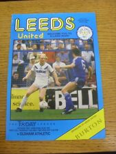14/05/1987 Play-Off Semi-Final Division 2: Leeds United v Oldham Athletic  (Slig