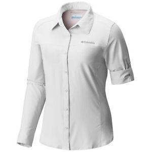 "New Womens Columbia ""Meadowgate"" Omni-Shade Vented Long Sleeve Shirt"