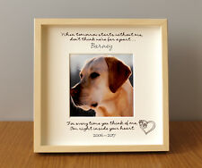 Personalised Photo Frame Pet Memory Bereavement Remembrance Gift Dog Cat