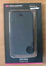 """Housse """"SWISS CHARGER"""" Wiko Kite 4G Noire neuve sous emballage"""