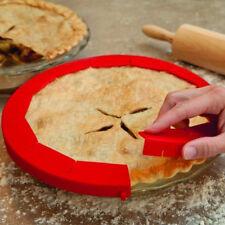 "Adjustable Pie Crust Shield Silicone Bakeware Round Pie Baking Tool Fits 8-11"""
