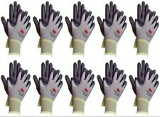 3m Thin Nylon Work Gloves Bulk Nitrile Rubber Coated Grip Touch Screen 10 Pack