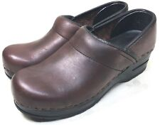 ccba4394671 Bjorndal Oiled Leather Nursing Clogs Shoe Occupational Professional Brown  Sz 6