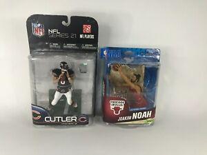 NFL Series 21 Chicago Bears Jay Cutler & NBA Chicago Bulls Joakim Noah Figures