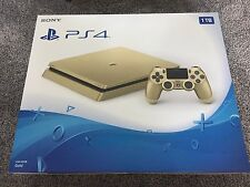 GOLD LIMITED Edition PlayStation 4 Slim (1TB) Console PS4 (Latest Model) NEW