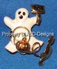 Happy Halloween Ghost Cat Pumpkin Boo Brooch 6464