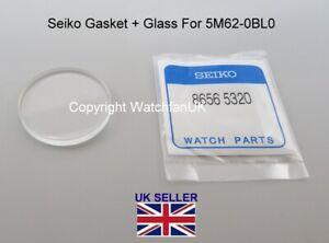 Replacement Crystal + Gasket Fits Seiko 5M62-0BL0 SKA371 SKA369