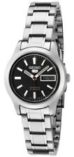 Seiko 5 SYMD95 Women's Stainless Steel Black Dial Day Date Automatic Watch