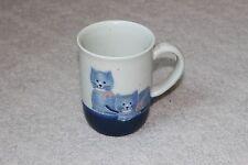 Ceramic Cat Kitten Coffee Mug Blue Kitty Cup Coffee Tea