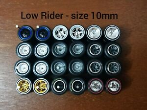 Hot Wheels REAL RIDERS RUBBER TIRES 10mm Short Axle Mix 12 Sets Low Riders Fires