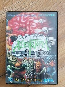 ❗Sega Mega Drive Spiel Alien Storm❗Japan NTSC❗CIB❗Original❗