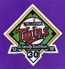 MINNESOTA TWINS 30th ANNIVERSARY 1991 MLB JERSEY PATCH