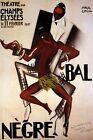 Bal Negre Josephine Baker African Dance 1927 Paris Vintage Poster Repro FREE SH