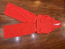 New listing 2 piece York & Company Red Orange Athletic Women's S Zip-up W /Hoodie and Capris