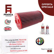 Filtro Aria Giulietta Sportivo BMC Originale FB643/08 + KIT Pulizia WA250-500