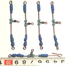 paquete 5 urfes varilla acero inox ,7 ctm,con casquillos ,color azul