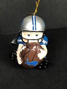 "Detroit Lions NFL Player Boy Football Ornament Team Sport 2.5"""