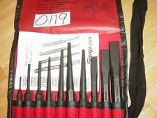 SNAP-ON TOOLS NEW UNUSED 10 PIECE PUNCH & CHISEL SET PPC710BK