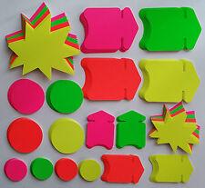 200 Pfeile Set Kreise Sterne  Preisschild Karton Werbesymbol Räumungsverkauf