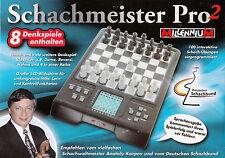 MILLENNIUM Schachmeister Pro 2 M802 Schachcomputer LCD 8 Denkspiele