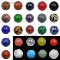 Natural Gemstones Round Ball Crystal Healing Sphere Rock Stones Decor 16mm