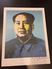 "ANDY WARHOL ""MAO TSE TUNG"" 1986 Hand signed print with COA."