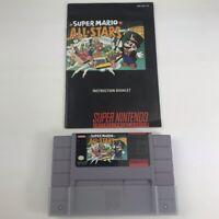 Super Mario All-Stars Super Mario World Super Nintendo SNES Authentic w/ Manual