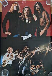 "Rare Rush 1980 Poster ORIGINAL Vintage IN SLEEVE! Large Collage 24"" X 36"" - GEM"