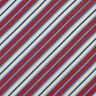 SALVATORE FERRAGAMO Mens Red White Blue STRIPED Luxury Woven Silk Tie Italy EUC