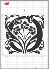 Beautiful Alphabet Letter O Stencil MYLAR A4 sheet strong resuable Craft ArtDeco