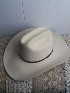 Vintage Bailey XXXX Angora Blend Cowboy Hat Western pinup Girl Liner Cream color