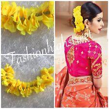 Indian Bollywood Yellow Sangeet Gajra, Flower band, juda decoration