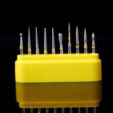 Dental Diamond FG Burs Kit Creamics/Composite Polishing 10 Pcs/Box