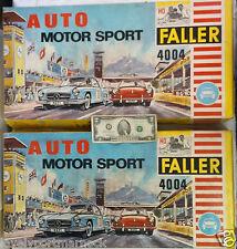 2 seltene Sets Vintage Auto Motor Sport Faller 4004 6 Slot Cars Porsche Mercedes