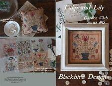 Blackbird Designs Tulip and Lily #6 Garden Club X-stitch Chart