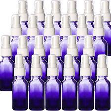 1oz Purple Shaded Glass Boston Round Bottles w/ White Spray Tops New Pack of 24