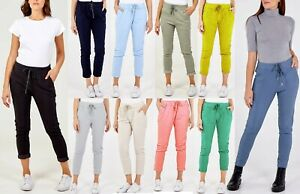Womens Lagenlook Italian Magic Pants Ladies Casual Stretch Jogger Style Trousers