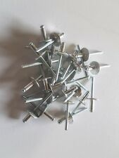 Large Flange Pop Rivets Pk50 Aluminium 4.8mm thick x 11.1mm long x 16mm flange