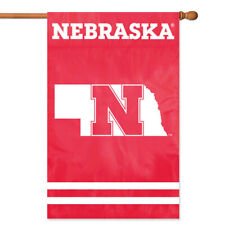 Nebraska Cornhuskers House Banner Flag PREMIUM Outdoor DOUBLE SIDE Embroidered