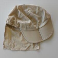 Folding sun cap with neck shield -beige