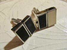 VtG Modernist Black & White Enamel Revolving Panels Cufflinks Novelty Design