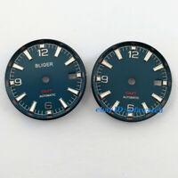 31mm Deep blue watch Dial red GMT Fit ETA 2836/2824 2813/3804 Miyota 8215 821A
