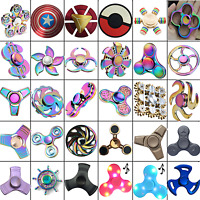 Fidget Finger Spinner Hand Focus Spin Aluminum EDC Bearing Stress Toys UK SELLER