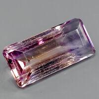 Very Beautiful stone Natural 10.55 Ct.Baguette Bi-Color Ametrine Africa/ S1888