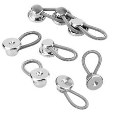 12X Metal Shirt COLLAR BUTTON EXTENDERS Silver GREAT FOR TIGHT SHIRTS YS7