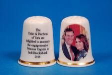 Princess Eugenie & Jack Brooksbank Engagement 2018 China Thimble B/138