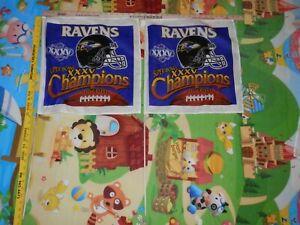 Baltimore Ravens flag lot (2) flags on stick NFL Super Bowl XXXV Champions