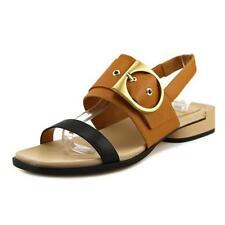 Sandalias y chanclas de mujer de tacón medio (2,5-7,5 cm) de piel talla 39