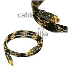 3ft Premium TOSLINK DIGITAL OPTICAL AUDIO CABLE GOLD Connector DVD DTS Dolby