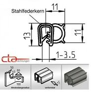 1x m Kederband Dichtprofil Türdichtung seitlichwulst schwarz KB 1 - 3,5 1C11-06